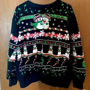 1990s tacky Christmas sweater